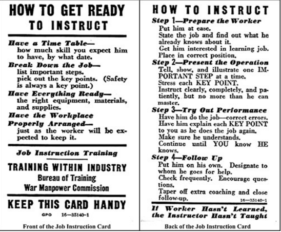 Job Instruction Card in PowerPoint format (Meritus Health)
